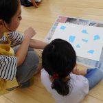 造形教室「絵の具の散歩」…そら、たいよう組